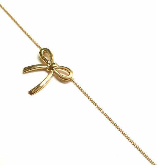 Tiffany & Co. VERY RARE, VERY BEAUTIFUL!! Tiffany & Co. 18k Yellow Gold Necklace with Bow Pendant Image 4