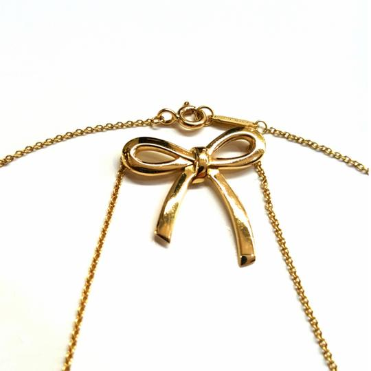 Tiffany & Co. VERY RARE, VERY BEAUTIFUL!! Tiffany & Co. 18k Yellow Gold Necklace with Bow Pendant Image 6