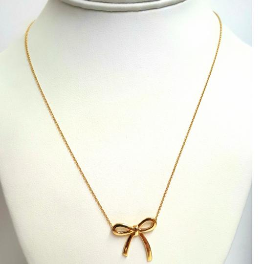 Tiffany & Co. VERY RARE, VERY BEAUTIFUL!! Tiffany & Co. 18k Yellow Gold Necklace with Bow Pendant Image 7
