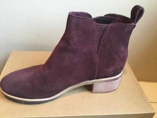 Clarks Suede WIne Boots Image 1