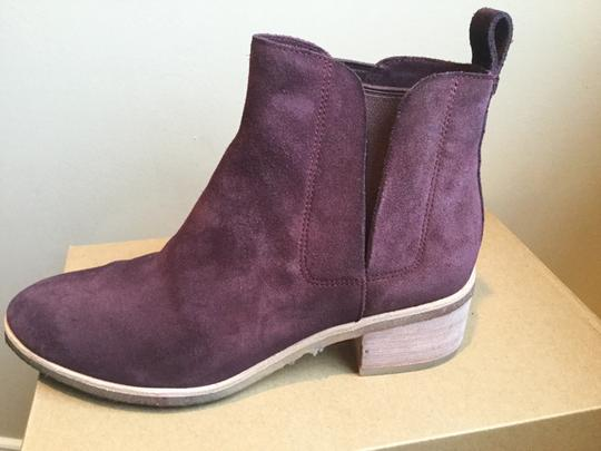Clarks Suede WIne Boots Image 3
