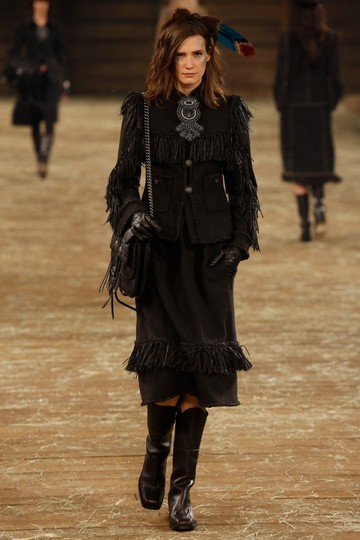 Chanel Western Cowboy Choco BROWN Boots Image 2