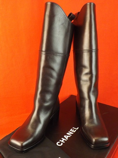 Chanel Western Cowboy Choco BROWN Boots Image 6