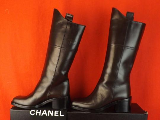 Chanel Western Cowboy Choco BROWN Boots Image 7