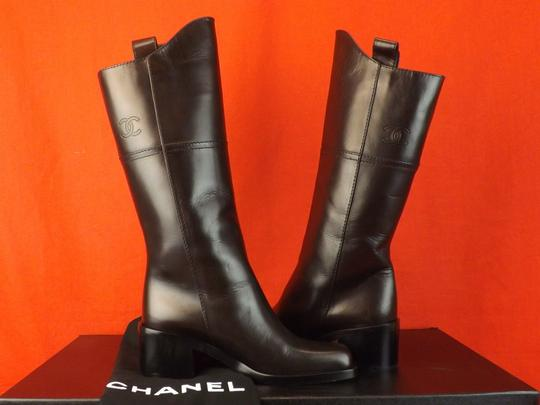 Chanel Western Cowboy Choco BROWN Boots Image 8