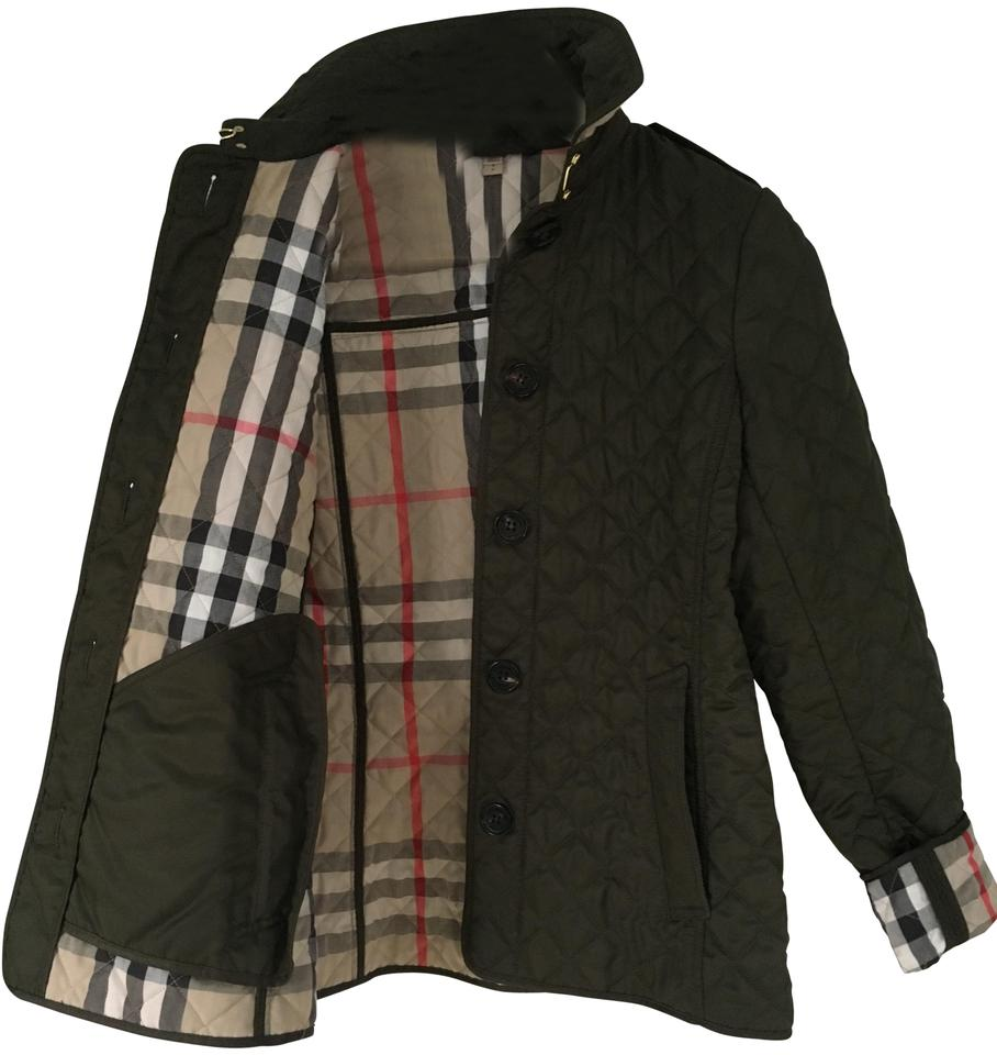Burberry Cadet Military Green Ashurst Quilted P Jacket