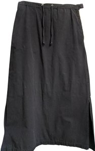 Blu Dot Cotton Long Cotton Maxi Skirt Black