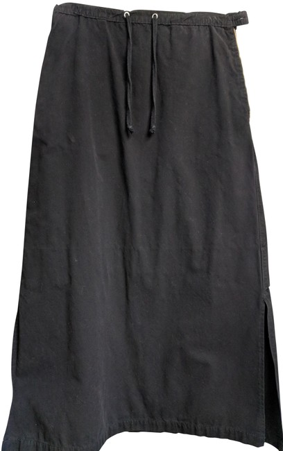 Blu Dot Cotton Long Cotton Maxi Skirt Black Image 0