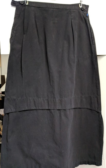Blu Dot Cotton Long Cotton Maxi Skirt Black Image 5