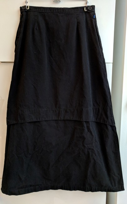 Blu Dot Cotton Long Cotton Maxi Skirt Black Image 6