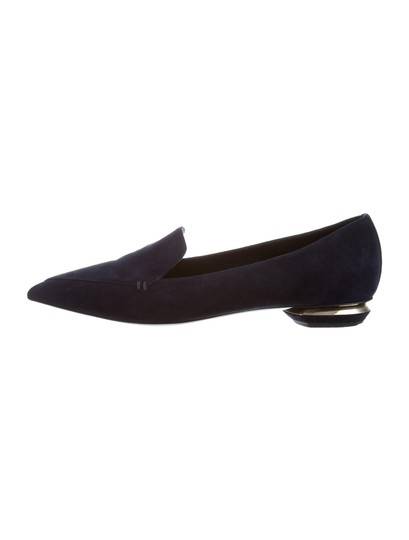 Nicholas Kirkwood Loafers Pointed Toe Suede Midnight Navy Flats Image 0