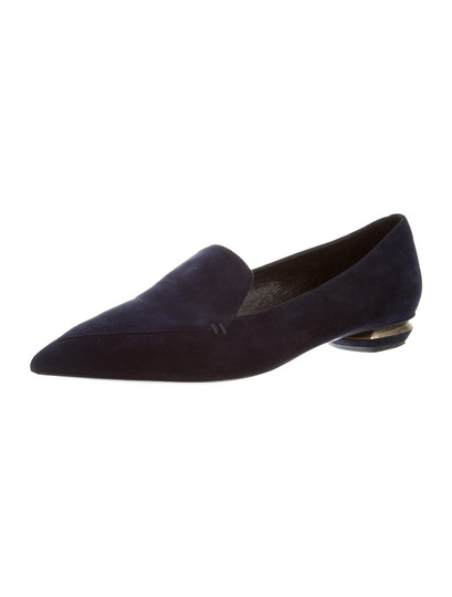 Nicholas Kirkwood Loafers Pointed Toe Suede Midnight Navy Flats Image 2