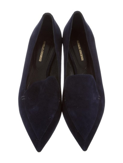 Nicholas Kirkwood Loafers Pointed Toe Suede Midnight Navy Flats Image 3