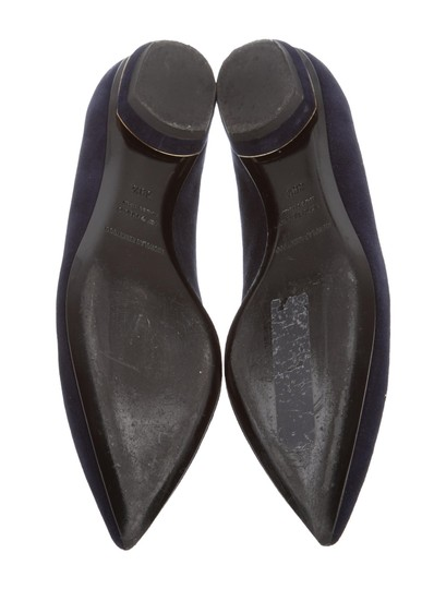 Nicholas Kirkwood Loafers Pointed Toe Suede Midnight Navy Flats Image 4