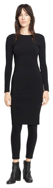 Preload https://img-static.tradesy.com/item/24919803/vince-black-fitted-mid-length-workoffice-dress-size-4-s-0-1-650-650.jpg