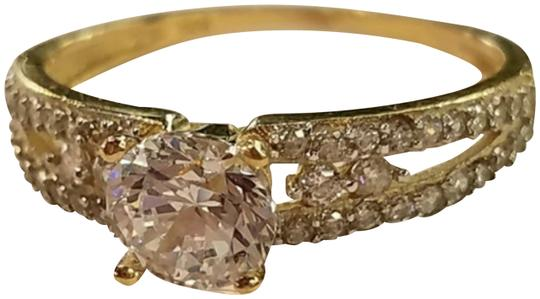 Your Dream Diamond 14k Solid Yellow Gold Engagement Promise Ring size 7 Image 1