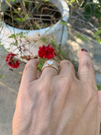 Your Dream Diamond 14k Solid Yellow Gold Engagement Promise Ring size 7 Image 11