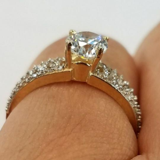 Your Dream Diamond 14k Solid Yellow Gold Engagement Promise Ring size 7 Image 2