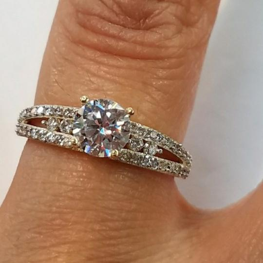 Your Dream Diamond 14k Solid Yellow Gold Engagement Promise Ring size 7 Image 3