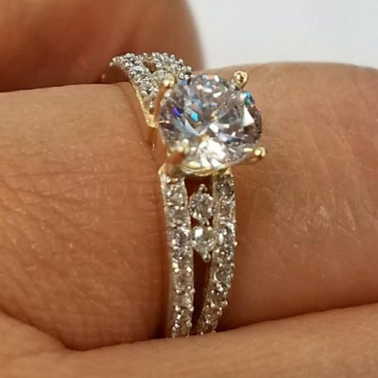 Your Dream Diamond 14k Solid Yellow Gold Engagement Promise Ring size 7 Image 4