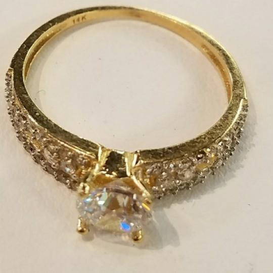 Your Dream Diamond 14k Solid Yellow Gold Engagement Promise Ring size 7 Image 5
