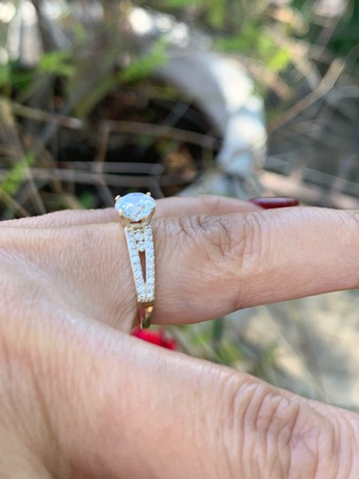 Your Dream Diamond 14k Solid Yellow Gold Engagement Promise Ring size 7 Image 6