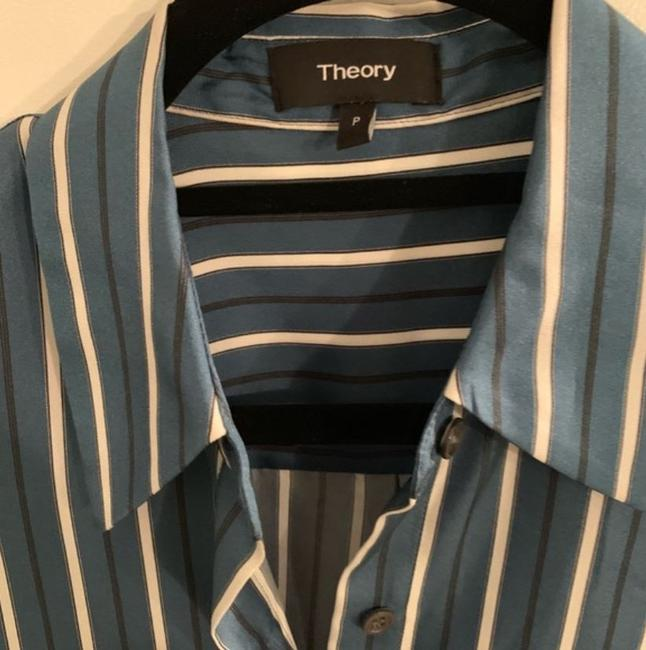 Theory Top Blue & Green Image 1