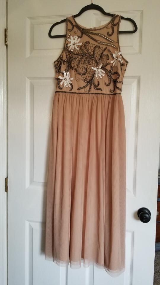 4fae1863e3 Gianni Bini Beige Nude Formal Dress Size 6 (S) - Tradesy