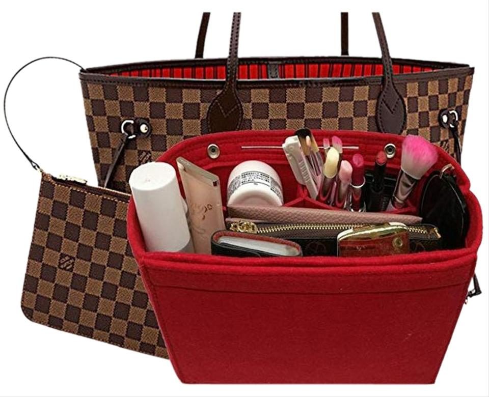 02cdb6afc6dd mislux Organizer For Neverfull Gm Large Chanel Hermes Tote Red Felt ...