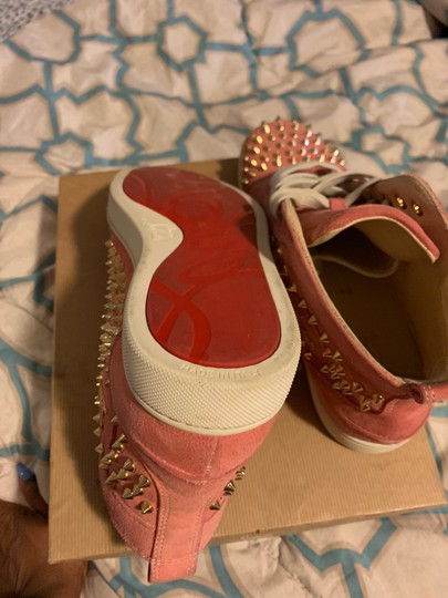 Christian Louboutin pink wit gold spikes Athletic Image 10