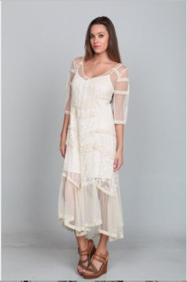 Ark   Co. Ivory Lace Gatsby Flapper Cream Overlay Long Casual Maxi ... 1a097eb91