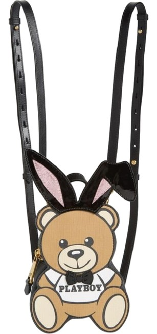 Item - New Playboy Small Bunny Bear Multicolor Saffiano Leather Backpack