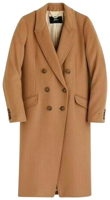 Item - Camel New Long Double-breasted Topcoat Wool Cashmere Sienna Coat Size 8 (M)