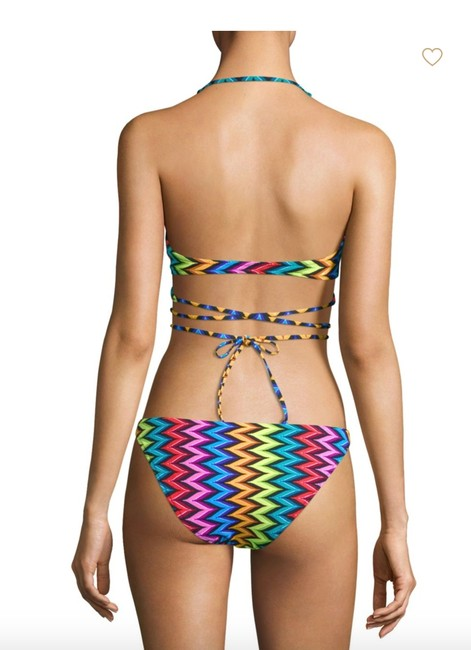MILLY Milly Chevron Halter Wrap Bikini Top and Bottom Image 2