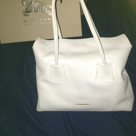 Burberry Satchel in White Image 1