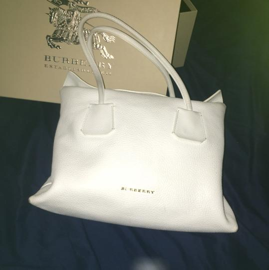 Burberry Satchel in White Image 2