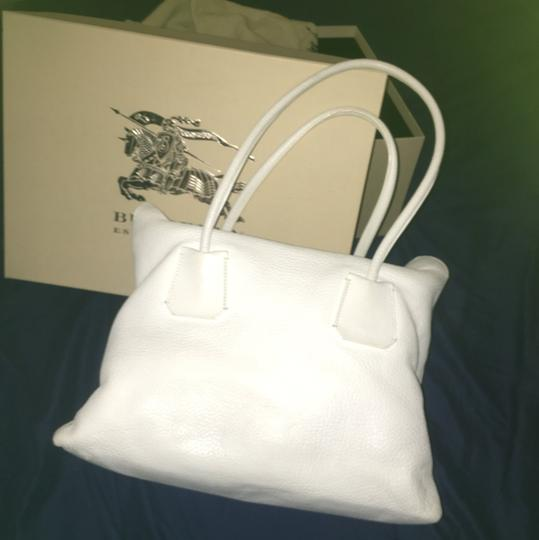 Burberry Satchel in White Image 3