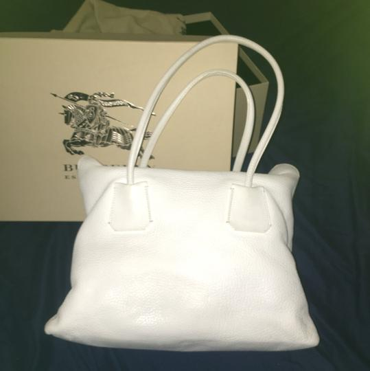 Burberry Satchel in White Image 4