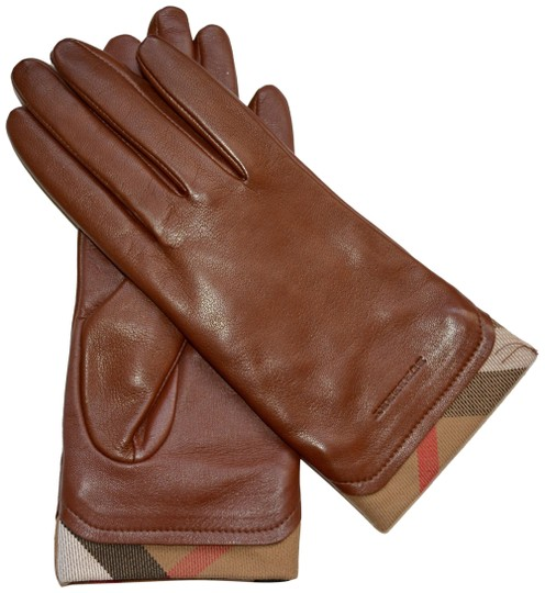 Preload https://img-static.tradesy.com/item/24920115/burberry-saddle-brown-leather-housecheck-trim-janny-touch-gloves-75-0-1-540-540.jpg