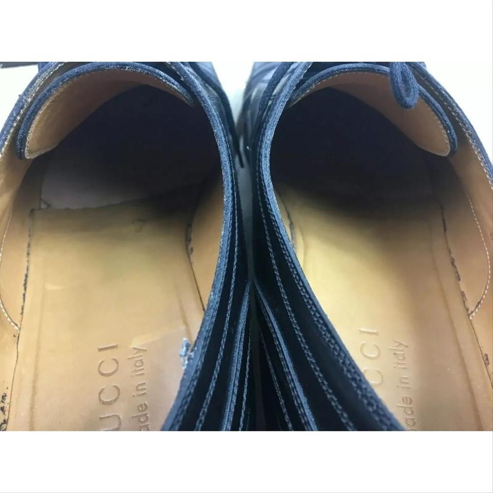 5b0a54874b0 Gucci Sold Out Style Men s Ravello Black Laceup Loafers Oxfords 8g ...