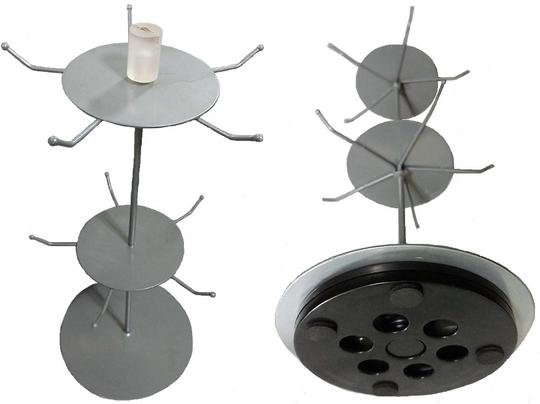 unknown 2-Tier Revolving Countertop Peg Spinner Rack Carousel Image 1