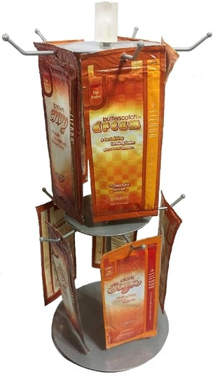 unknown 2-Tier Revolving Countertop Peg Spinner Rack Carousel Image 3