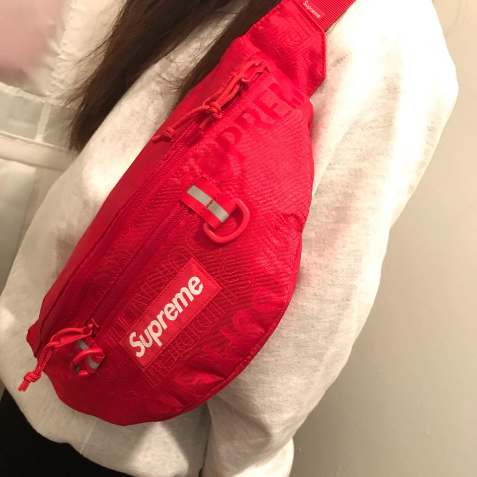 e30635e61b6d Supreme Multiple Limited Edition Ss19 Waist Shoulder Pack Red Fabric ...