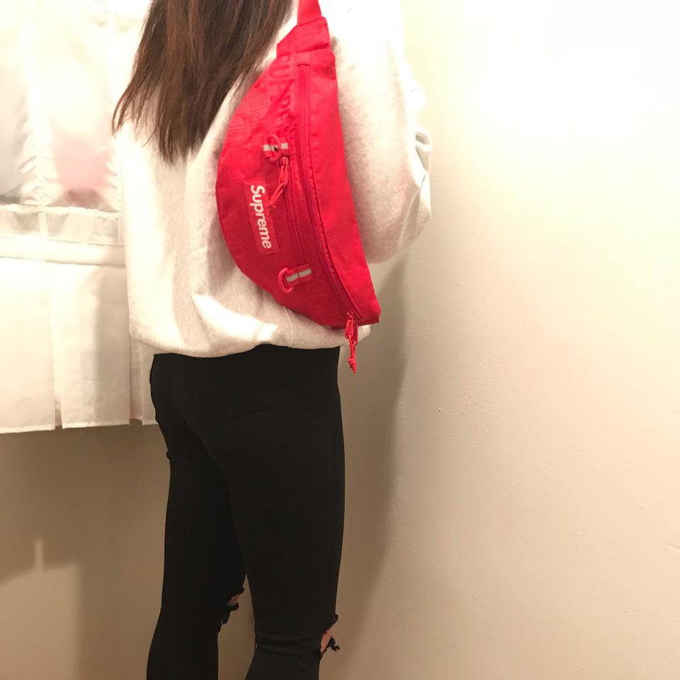 Supreme Limited Edition Ss19 Waist Multiple Shoulder Pack Red Fabric Cross  Body Bag 15b649ed9bb37