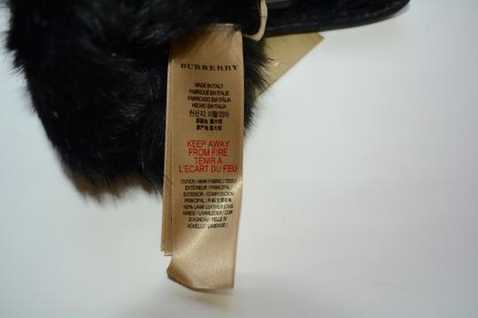Burberry NWT BURBERRY LAMB LEATHER CHECK STITCH GRAINY RABBIT FUR LINING GLOVES Image 4