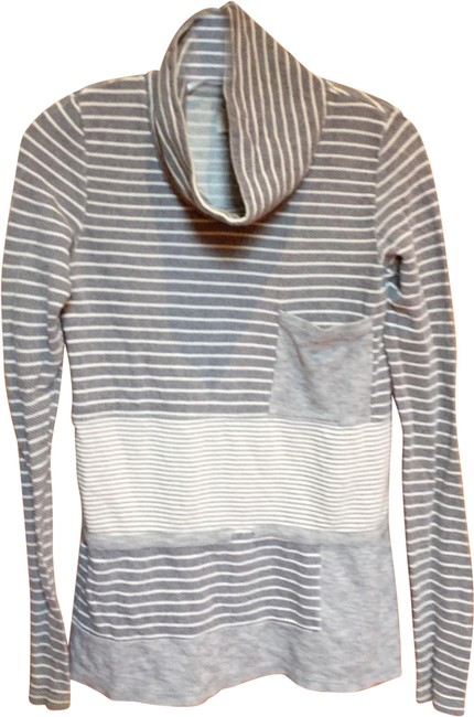 Preload https://img-static.tradesy.com/item/24920149/anthropologie-black-and-white-striped-cowl-neck-cotton-terry-sweatshirthoodie-size-4-s-0-1-650-650.jpg