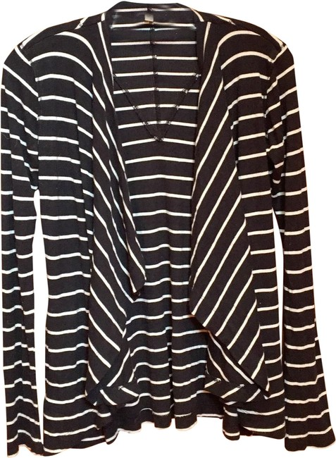 Preload https://img-static.tradesy.com/item/24920230/bordeaux-black-ivory-striped-ribbed-cardigan-size-4-s-0-1-650-650.jpg