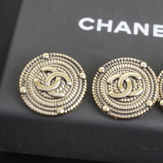 100% Chanel Buttons 9 pieces Bronze tone 100% Chanel buttons lot of 9 btonzd tone logo CC size 1 inch or 24 mm metal Image 2
