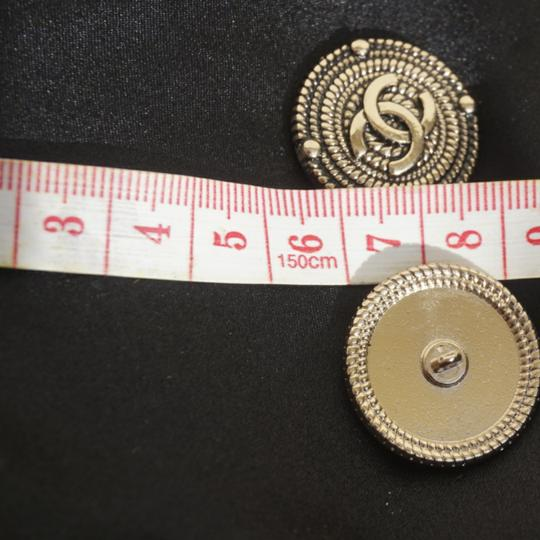 100% Chanel Buttons 9 pieces Bronze tone 100% Chanel buttons lot of 9 btonzd tone logo CC size 1 inch or 24 mm metal Image 4