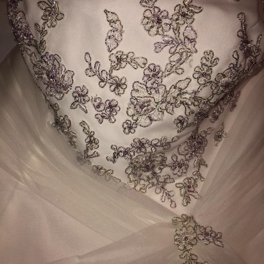 Monique Luo Ivory Rayon Polyester Cotton Formal Wedding Dress Size 14 (L) Image 3